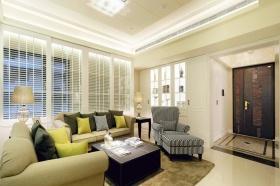 都市时尚简欧风格米色客厅美图欣赏