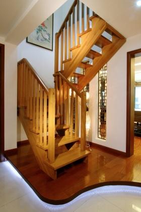 中式简约楼梯装修效果图