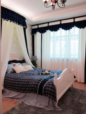 地中海风格雅致白色卧室装饰图