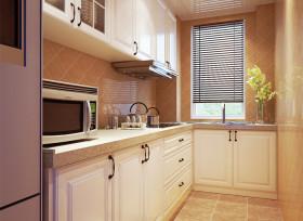 2016橙色简约风格温馨厨房橱柜装潢设计