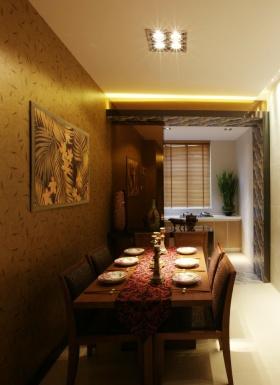 东南亚风格个性黄色餐厅装修设计图