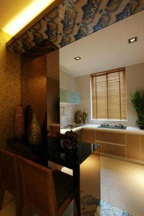 东南亚风格厨房橱柜装修布置