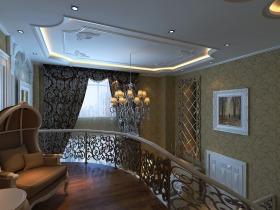 黄色欧式风格客厅吊顶装潢