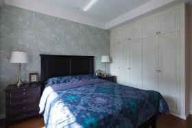 灰色美式卧室衣柜设计