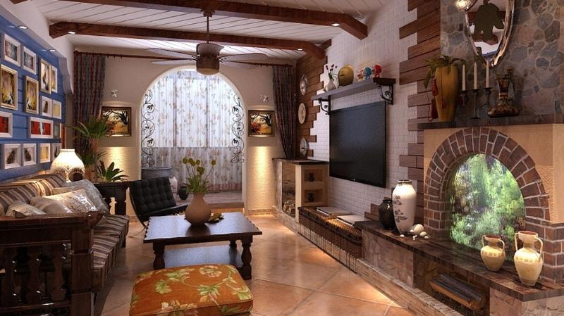 质感原木色美式风格客厅图片赏析