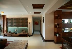 简洁东南亚风格过道设计图片