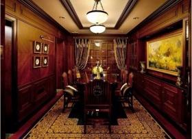 欧式风格个性红色餐厅设计赏析