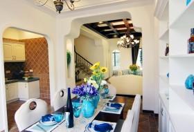 清新地中海风格餐厅装修布置