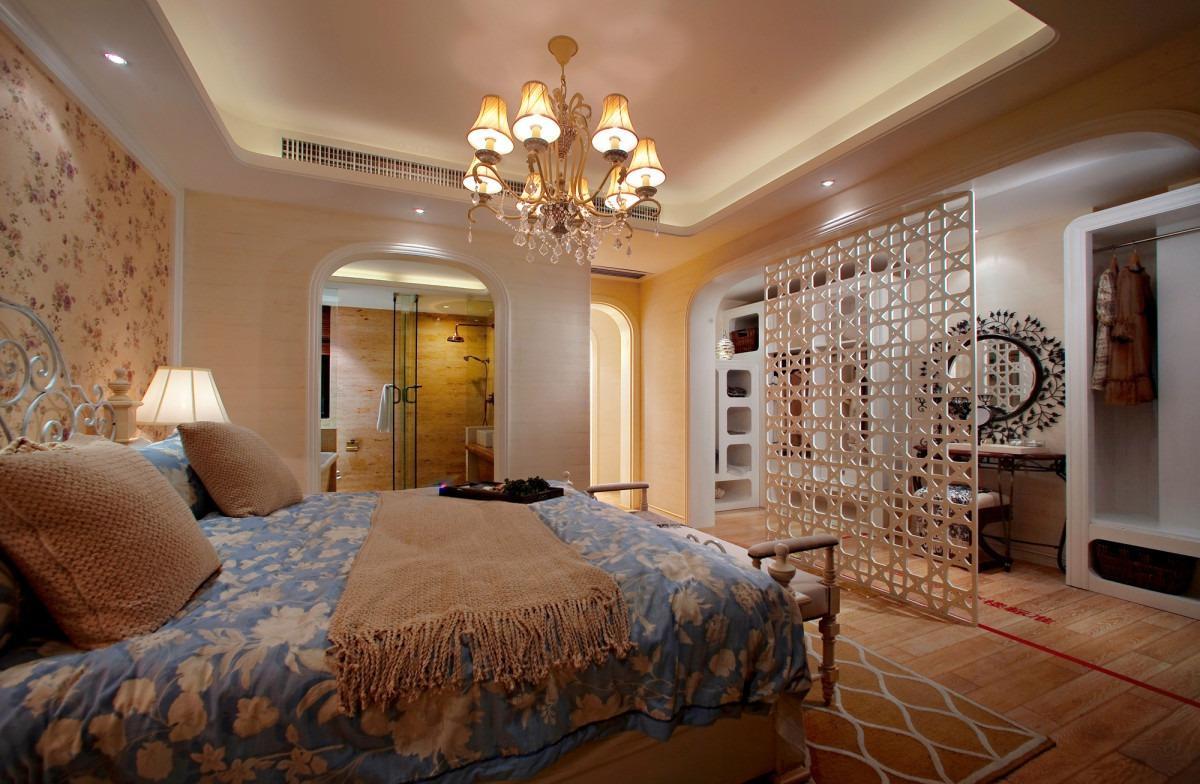 米色雅致田园精美温馨卧室装潢设计