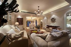地中海风格客厅吊顶设计图