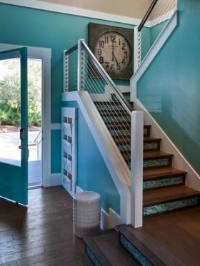 蓝色浪漫地中海风格楼梯设计案例
