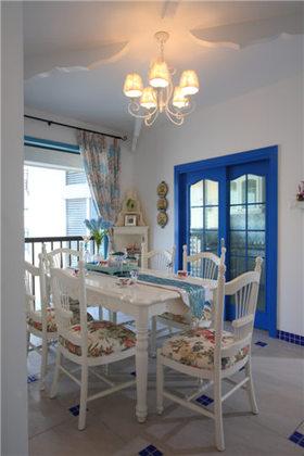 蓝色地中海浪漫2016餐厅设计图片