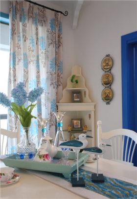 地中海风格蓝色餐厅装修设计图