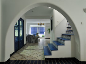 清新地中海风格楼梯设计装潢