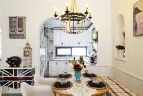 白色精美浪漫地中海风格餐厅设计图
