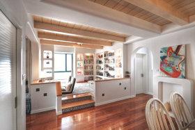地中海风格米色书房设计