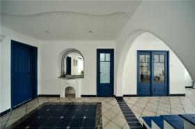 地中海风格浪漫蓝色玄关设计欣赏