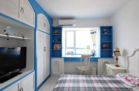 蓝色个性地中海风格儿童房效果图欣赏