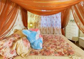 橙色个性田园风卧室效果图设计