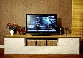 东南亚风情客厅电视背景墙设计赏析