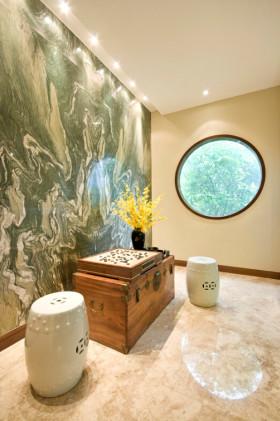 米色创意时尚新中式风格休闲室装潢