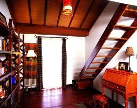 东南亚风格红色书房吊顶设计案例
