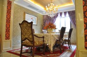 黄色欧式餐厅吊顶设计图片