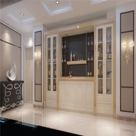 欧式米色酒柜装修效果图欣赏