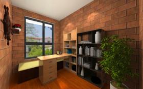 2016典雅欧式风格书房设计图