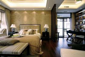 黄色新古典风格卧室装修效果图