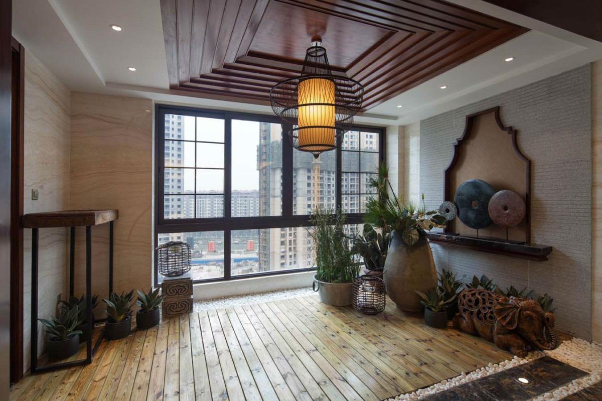 东南亚风格阳台吊顶装修图片