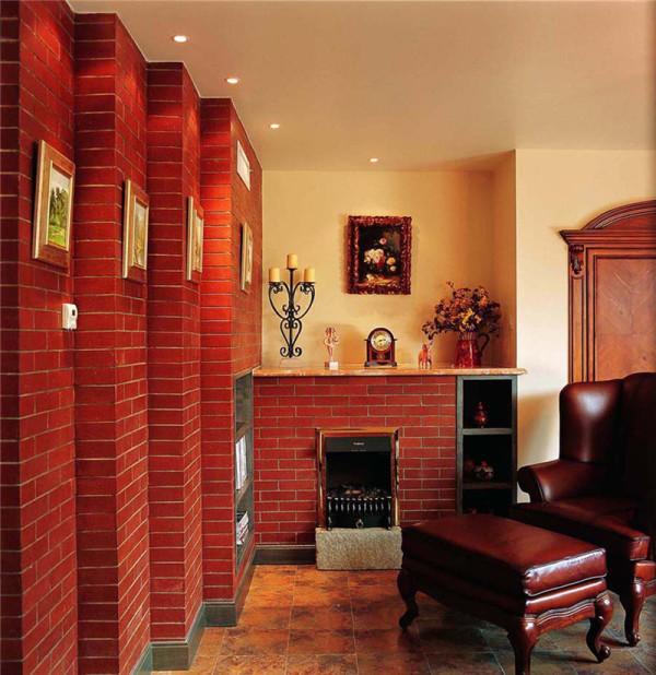 红色欧式风格客厅赏析
