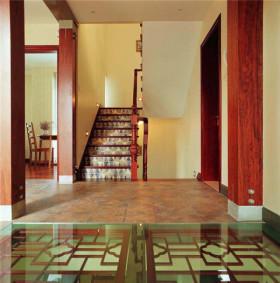 红色大气时尚欧式风格楼梯设计图片