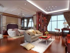 简约红色客厅装潢案例