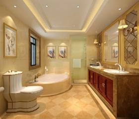 欧式风格橙色卫生间装修效果图片