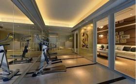 休闲现代风格健身房装修布置