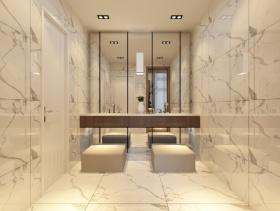 2016米色创意简约卫生间装饰案例