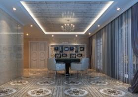 简约蓝色客厅休闲装修设计