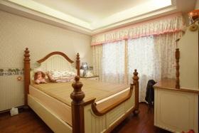 黄色新中式风格儿童房装饰案例