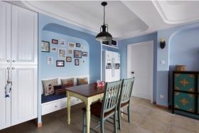 蓝色地中海风格餐厅设计欣赏