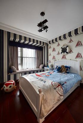 温馨米色地中海风格儿童房装修设计