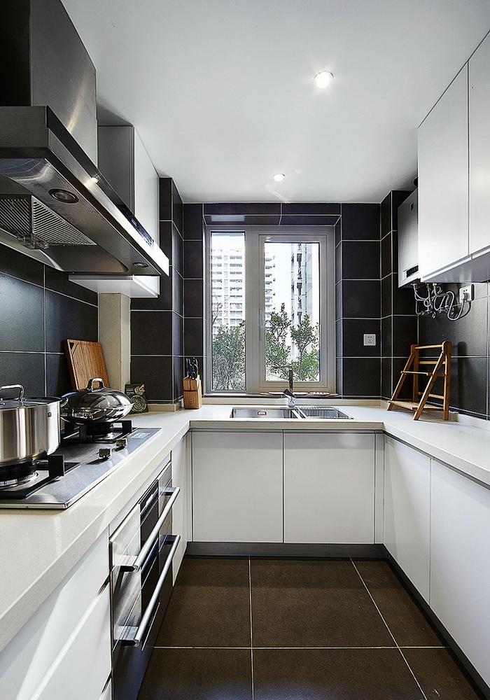 灰色欧式厨房橱柜效果图欣赏