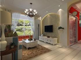 田园素雅温馨客厅吊顶设计