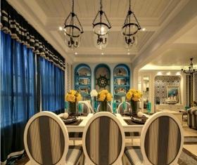 创意2016新古典风格餐厅吊顶装饰案例