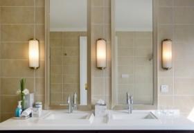 橙色中式风格卫生间设计装潢