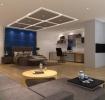 灰色简约风格客厅装潢设计