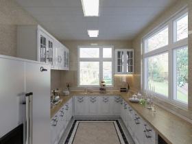 2016欧式风格黄色厨房装修效果图片