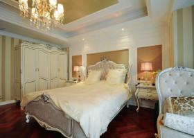 黄色欧式卧室衣柜装修效果图片