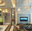 低奢华丽欧式客厅吊顶装修图