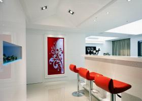 欧式风格多彩创意餐厅吊顶效果图欣赏